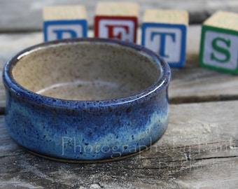 Extra Small Blue and Cream Pet Bowl