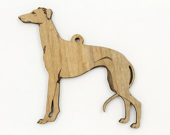Greyhound Ornament from Timber Green Woods. Personalize it! Made in the U.S.A! - Nice Gift Idea - MAPLE Wood