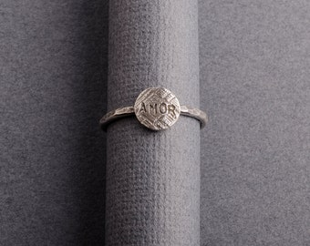 Amor Sterling Silver Stacking Ring