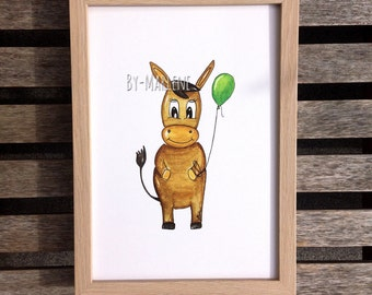 Nursery picture donkey