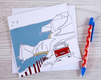 Campervan card 'The path to happiness'