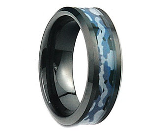 Mens camo ring Etsy
