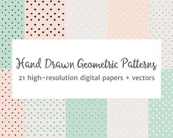 Hand Drawn Geometric Patterns Vector