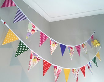 Colourful, Mermaid bunting/banner, fabric, handmade childrens room bunting/banner. Nursery decoration, gift.