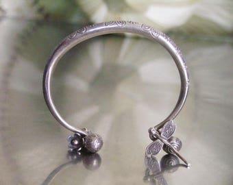 Tribal Silver Bracelet - Thai Silver Bracelet (30)