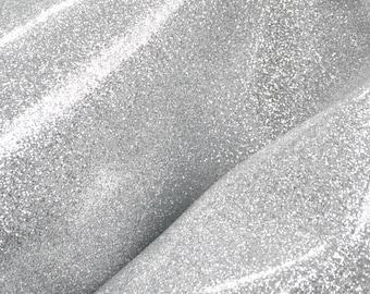 "Fashion Patent Silver Glitter Leather Cow Hide 12"" x 12"" Pre-cut 3-3 1/2 ounces DE-66426 (Sec. 6,Shelf 3,B)"