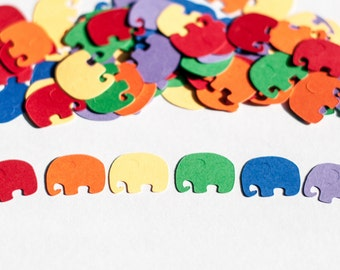 Rainbow Baby Shower,Confetti, Elephant Baby Shower, Gender Neutral Baby Shower