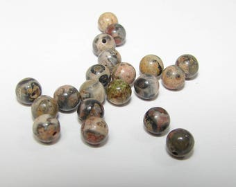 Set of 18 Brown Jasper 4.00 mm in diameter. (9790998)