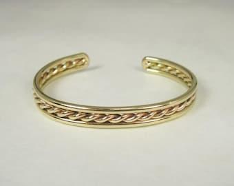 Thin Twisted Strand Bracelet  in Bronze
