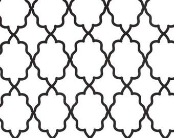Michael Miller - Moroccan Lattice - White & Black - 1/2 yard fabric - by Boutique Mia