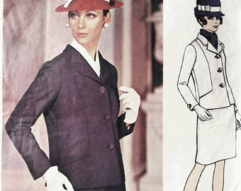 Vogue patterns Couturier Design by Jo Mattli, jacket and skirt suit, pattern number 2001, Bust 34 inches, Vintage sewing patterns