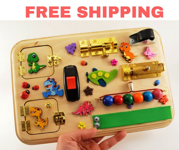 Free shipping easter baby gifts busy board toddler toys wooden negle Gallery