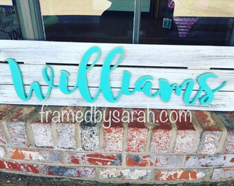 Custom Wood Name + Pallet Sign, choose your color