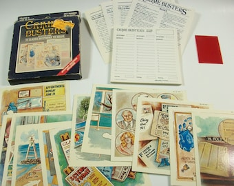 Crime Busters Detective Game, Vintage Mystery Game, Crime Solving Game, Mystery Crime Game, Vintage Crime Busters Volume III
