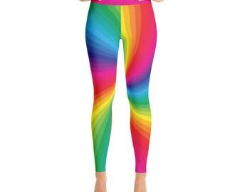 Rainbow Fun Bright Yoga Leggings