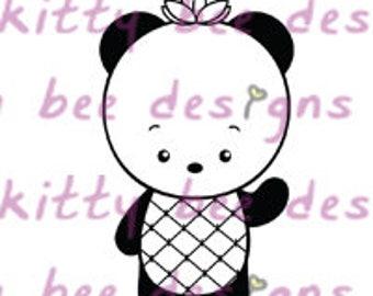 Pineapple Panda II Digital Stamp