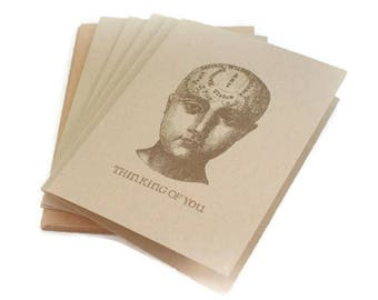 Note Card Set, Blank Note Cards, Phrenology, Thinking Of You Cards, Geekery Cards, Esoteric Note Cards, Notecards, Weird Cards, Cool Gift