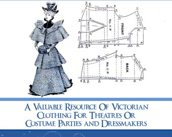 86 VICTORIAN DRESS PATTERNS Design Your Own Theatre Costumes Pattern for Dressmakers 177 Pages Printable Instant Download See Top Reviews