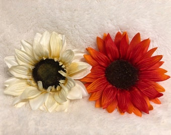 Sunflower Hair Clip Pair