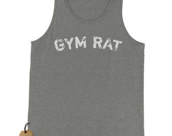Gym Rat Workout Jersey Tank Top for Men
