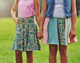 Take 5 Circle Skirt PDF Sewing Pattern, inc. sizes 6 months-14 years, Girls Knit Skirt Pattern