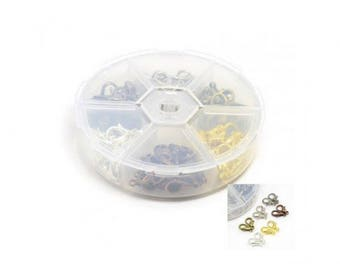120 snap fasteners 6 colors