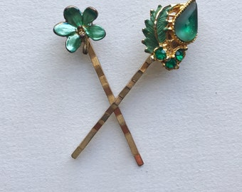 Floral Jewel Hair Pins