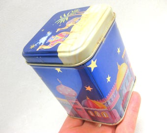 Vintage metal tin Old camel Dekeo Cmmel designer vintage old kitchen AfAufbewahrung metal Box Blue part