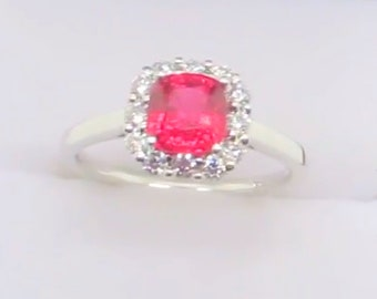 Vivid red Jedi Spinel(mansin)diamond set ring