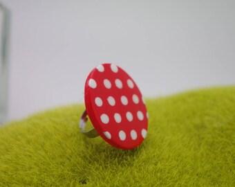Bague grand modèle argile polymère ANDALOUSE