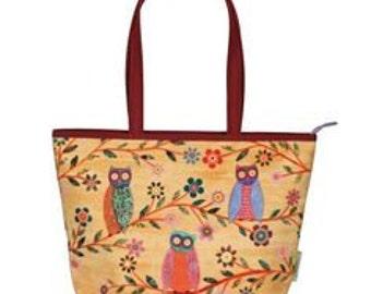 Owl Tote, Owl Bag, Large Tote Bag