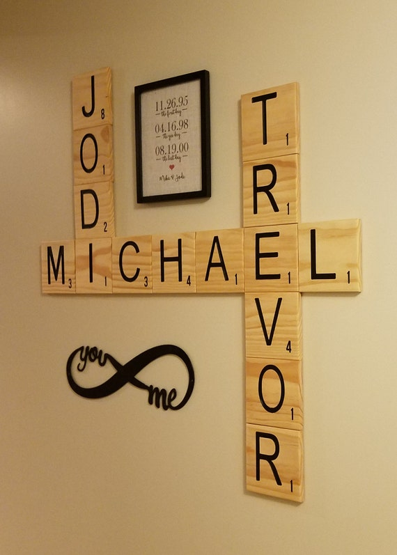 CARVED Scrabble Tiles Wall Art 5.5 Wall letters