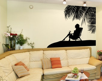 Vinyl Wall Decal Sticker Paradise Silhouette 1064s