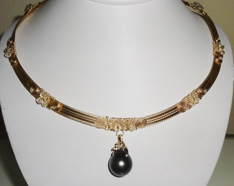 """Natural 19mm Dark Gray Tahitian Cultured Pearl, 14kt yellow gold bail with 6 diamonds, 14kt Yellow Gold 20"""" Necklace"""