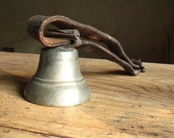 Bronze Cow or goat bell, vintage, French.