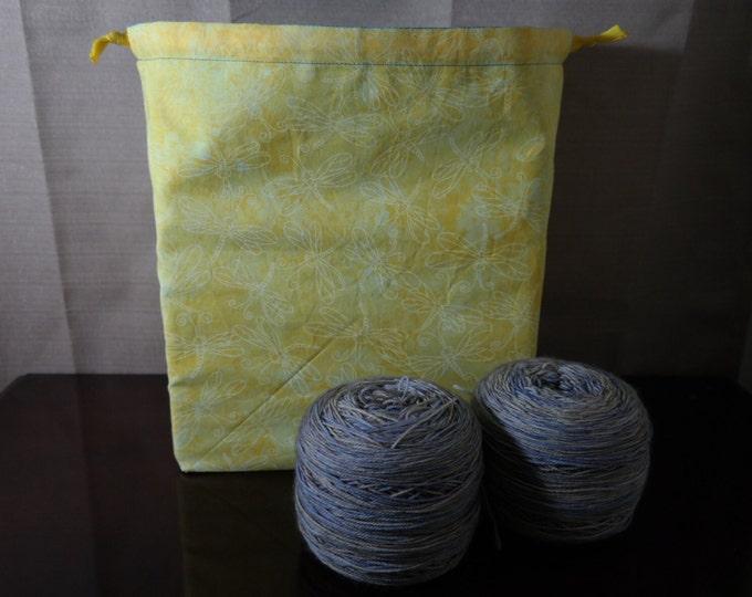 Dragonflies Large Drawstring Project bag