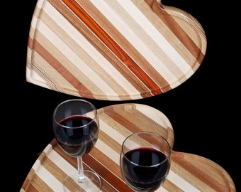 Hardwood Heart Shaped Tray Cutting Board