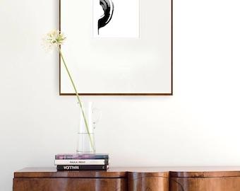 Abstract wave print, art print, prints, abstract ink print, minimal art print, modern, minimal wall art, black and white abstract print, art