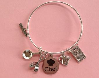 Chef...Bangle Charm Bracelet