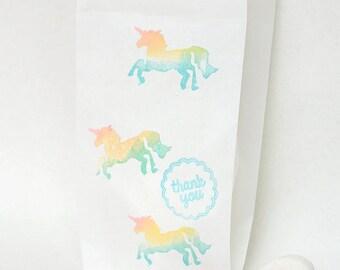 UNICORN Favour Bags - paper party bags, Unicorn, rainbow unicorn, unicorn party, unicorn theme, unicorn favours x 10 paper bags, party bags