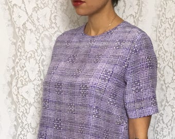 Vintage 80's purple skirt and top set