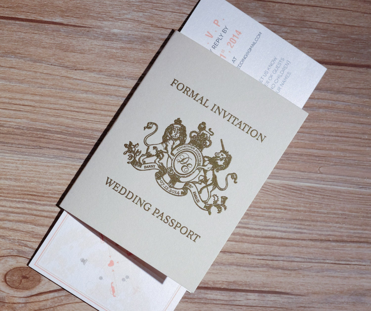 Passport Invitation Passport Wedding Invitation Passport