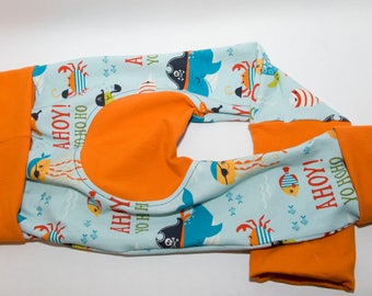AHOY! Pirate Maxaloones - Baby Leggings - Cloth Diaper Pants  - Toddler Pants - Grow with Me - Monkey Butt Pants - Baby Pants