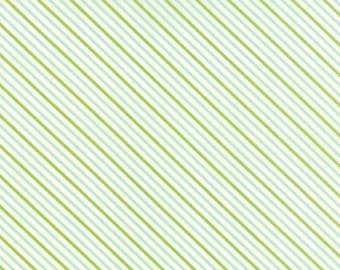 SALE Hello Darling aqua and green stripes  by Bonnie and Camille for Moda
