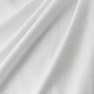 Plain White 100% Cotton Fabric Material - Pure White Cotton -  140cm wide per metre