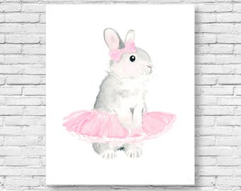 Nursery bunny Print -  Nursery Art - baby shower - Nursery Decor - Kids Wall Art -Woodlands nursery art, woodland prints, nursery print set