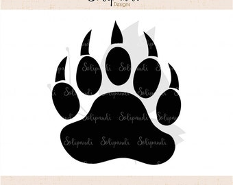 Bear Paw SVG Cut Files - SVG and DXF Cut Files - for Cricut, Silhouette, Die Cut Machines // scrapbooking // paper crafts // solipandi//#100