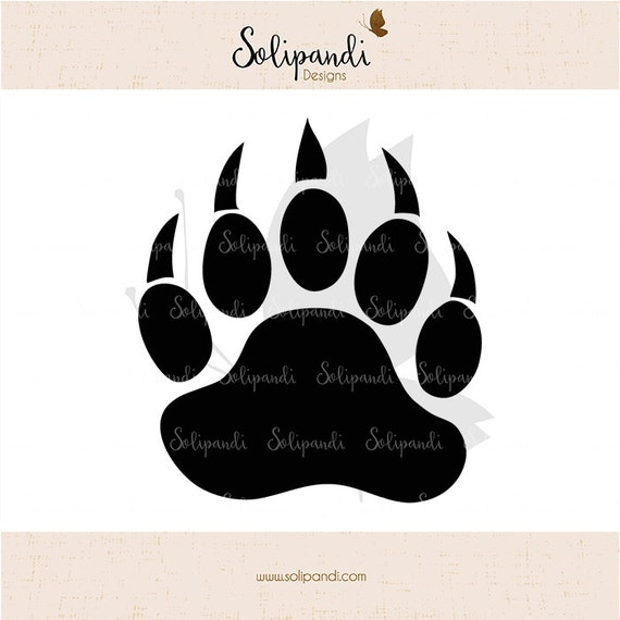 Bear Paw Svg Cut Files Svg And Dxf Cut Files For Cricut