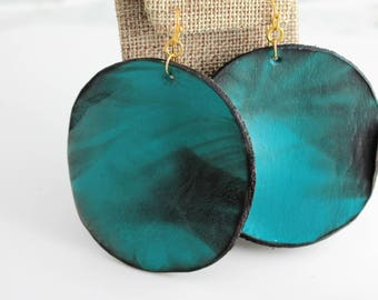 Bold Leather Circles