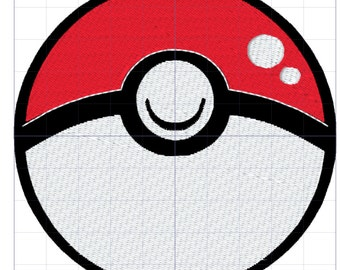 Pokeball Pokemon Embroidery Design